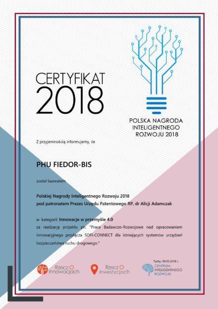 Certyfikat Inteligentnego Rozwoju 2018